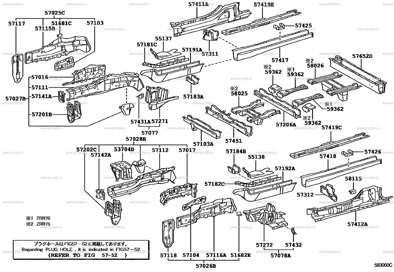 TOYOTA 57845-0C010 Seat Leg Reinforcement