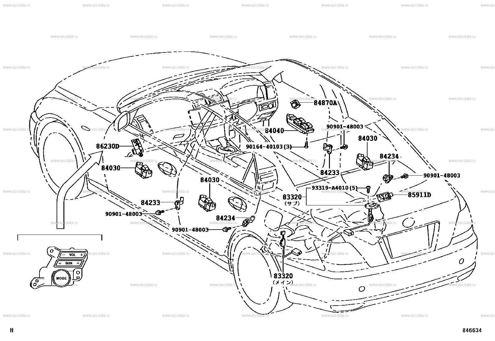 [DIAGRAM_38IS]  Switch & relay & computer for Toyota Mark X GRX120 - Auto parts | Toyota Mark X Fuse Box |  | Toyota parts catalog