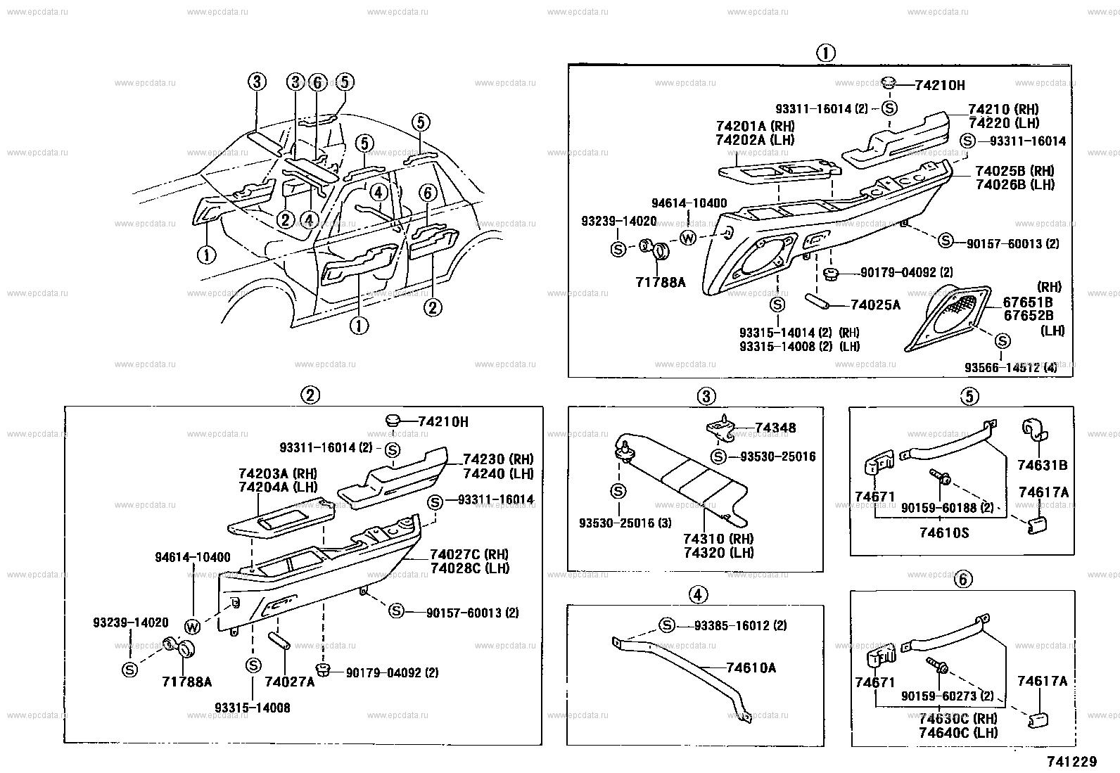 Toyota Genuine 74348-30010-04 Visor Holder