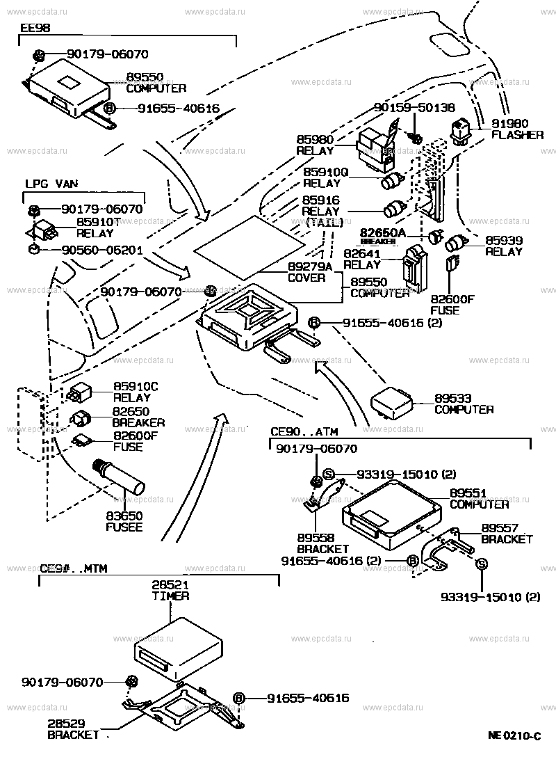 Switch & relay & computer for Toyota Corolla AE92 - Genuine parts | Ae92 Power Window Wiring Diagram |  | Switch & relay & computer for Toyota Corolla AE92 - Genuine parts