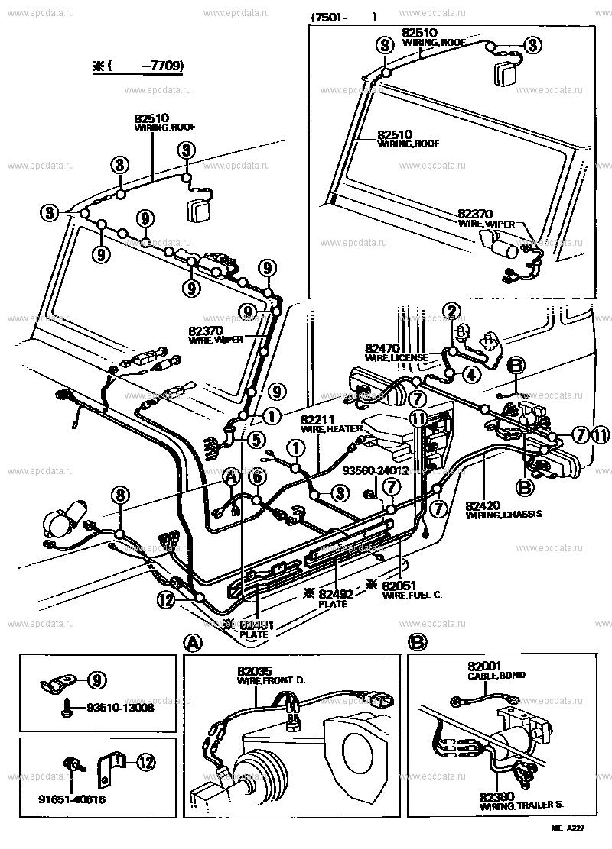 wiring  u0026 clamp for toyota land cruiser bj40
